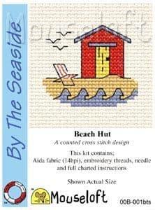 Mouseloft Beach Hut By The Seaside cross stitch kit